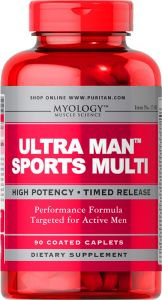 Puritan's Pride ULTRA MAN SPORTS MULTIWITAMINA 90t